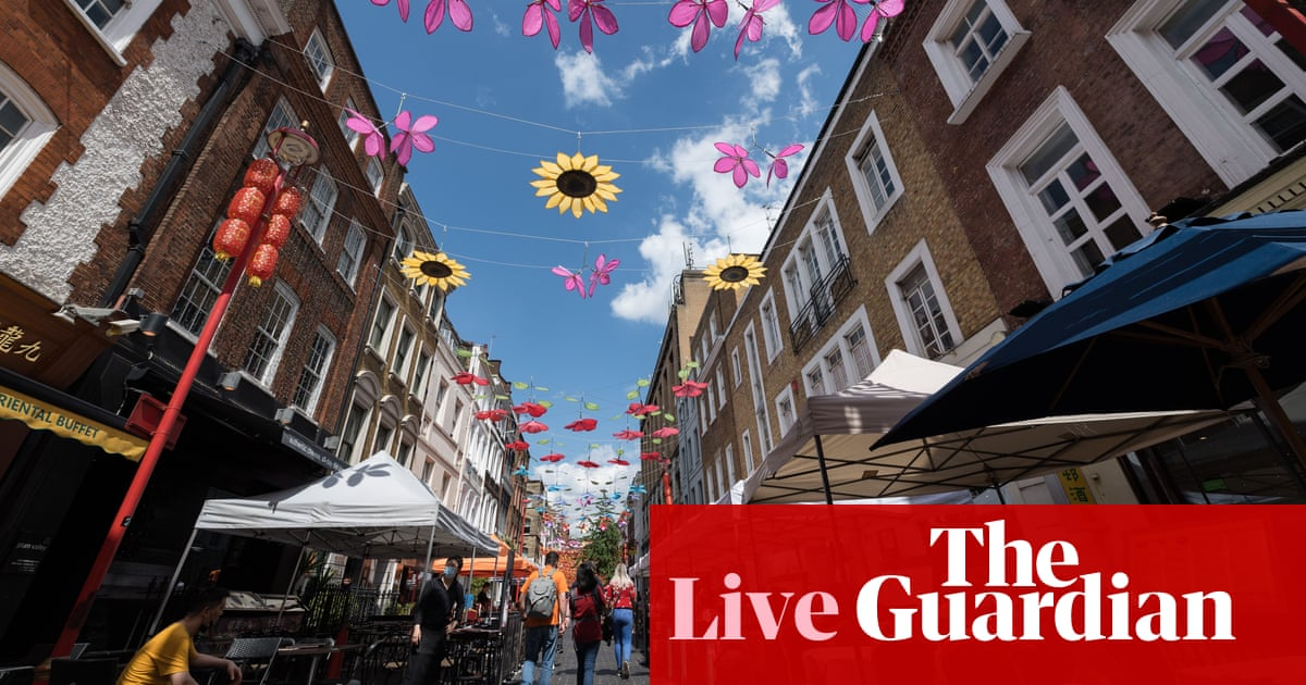 UK economic recovery speeds up in June after lockdown measures relaxed – business live