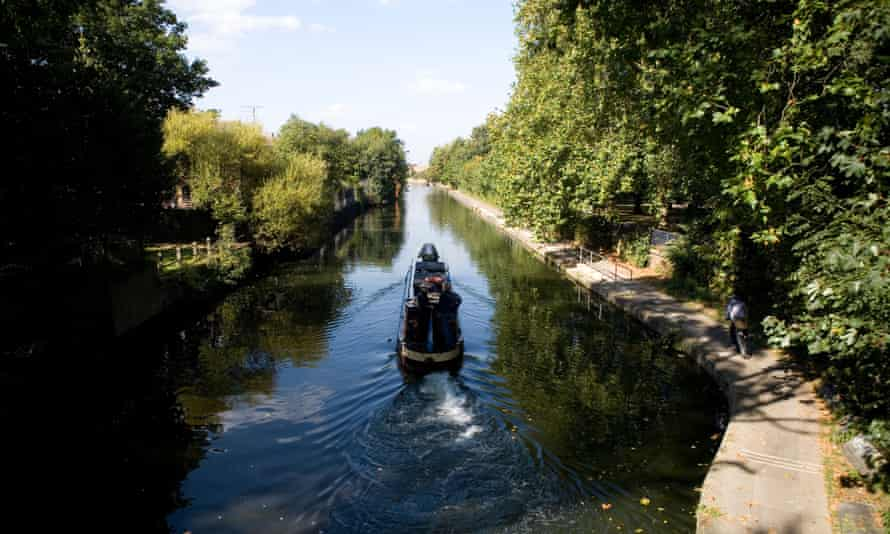 The Regent's canal in London. Some argue only a small amount of the capital's land would be needed to make half its surface green.