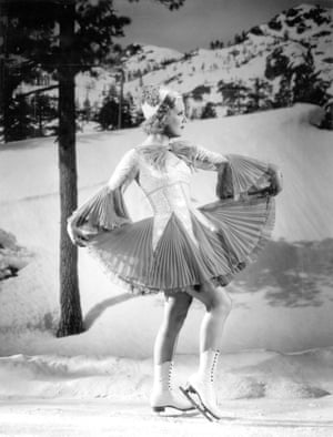 Figure skater Sonja Henie in One in a Million for Motion Picture magazine. Photograph by Gene Kornman. October 1936. Private collection