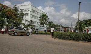 People are seen going into the National hospital in Abuja, Nigeria on 15 June, 2020, after resident doctors commence a strike, as Covid-19 infection continue to rise.