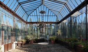 Tropical treat … the greenhouse.