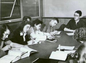 Eric Bentley teaching at Black Mountain College, North Carolina, in 1943