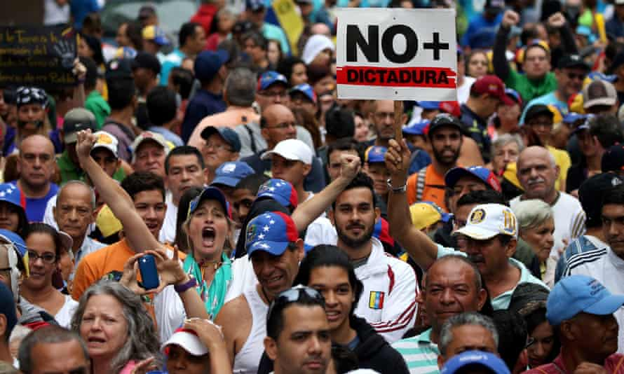 There has been a series of anti-government protests in the capital, Caracas, and other major cities, as well as marches by government supporters.