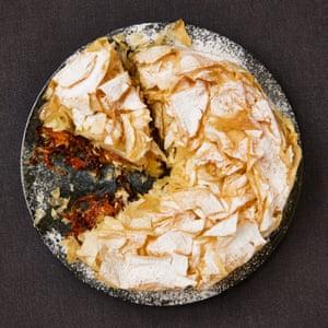 Yotam Ottolenghi's butternut squash, feta and sage filo pie