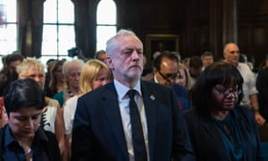 Corbyn takes part in minute's silence before his speech