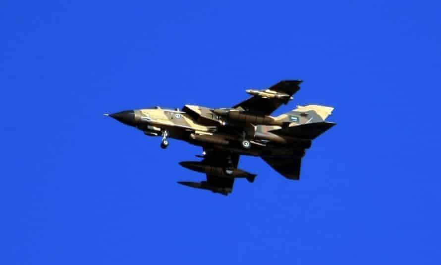 A Saudi Tornado aircraft