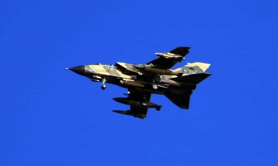 A Tornado warplane of the Royal Saudi Air Force.