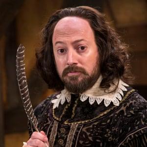As Shakespeare in Ben Elton's BBC sitcom Upstart Crow.