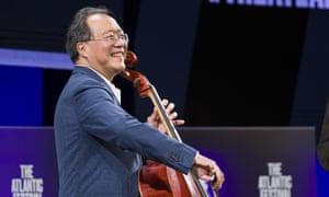 Cellist Yo-Yo Ma has appeared on Krista Tippett's podcast, On Being.