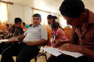 Children at the school in Soran run by the Refuge Initiative.
