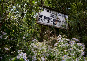 Sign outside Wolford's church.