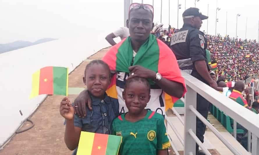 Fans of the Lionesses, Cameroon's women's football team, cheer them on at the start of the tournament.