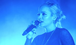 New blues ... Lily Allen performing at the Dome, Tufnell Park, 21 March 2018.
