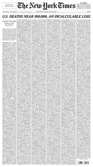 The New York Times front page from 24 May.