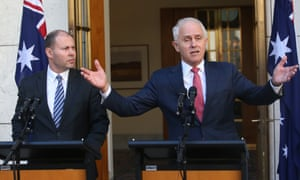 Malcolm Turnbull and Josh Frydenberg announce the Coalition's backing for the national energy guarantee after a party room meeting.