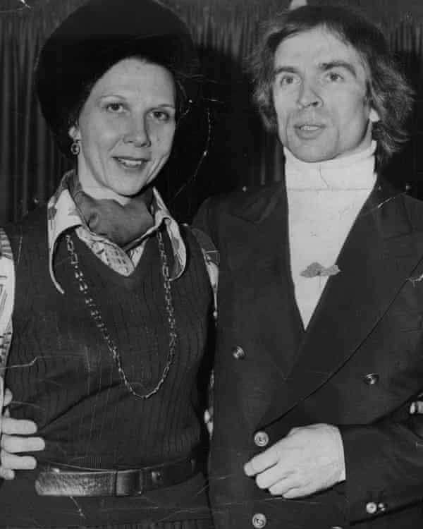 Beryl Grey and Rudolf Nureyev in 1976.