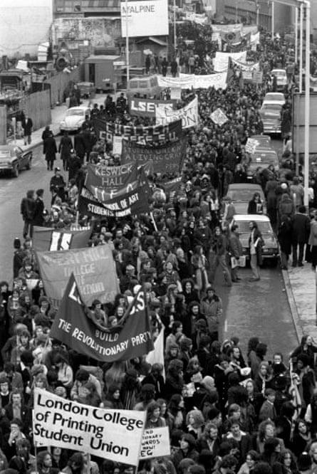 An NUS demo in 1974.