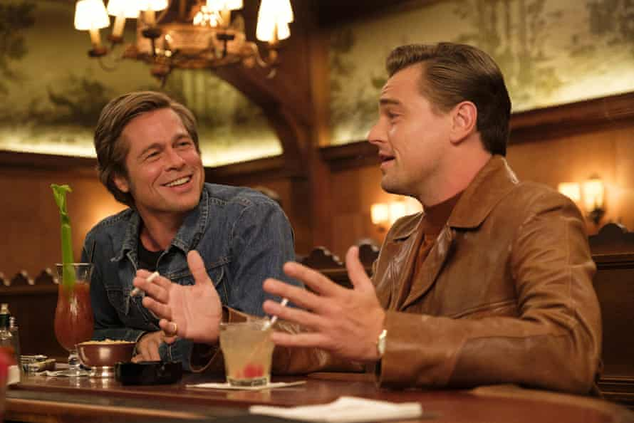 Brad Pitt and Leonardo DiCaprio in Once Upon a Time in Hollywood.