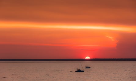 The sunset over Darwin Harbour