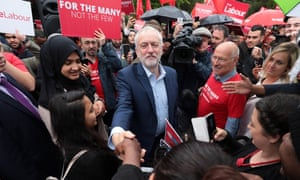 Jeremy Corbyn campaigning in Southall, west London.