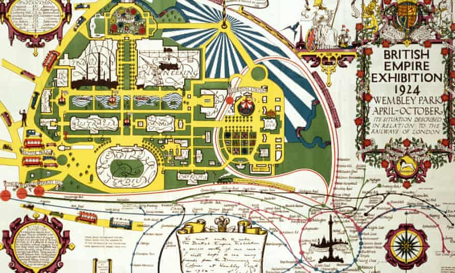 Site map for the British Empire Exhibition, 1924.