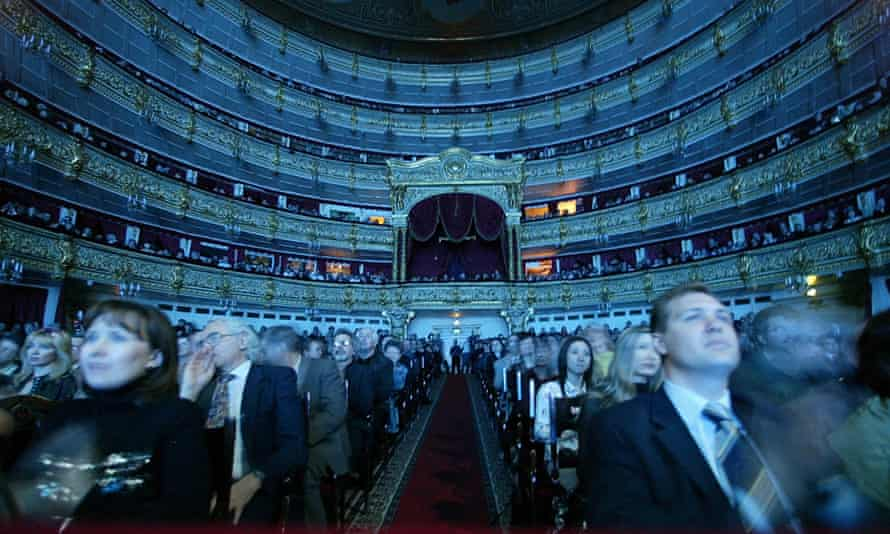 The Bolshoi Theatre, Moscow … rich Russians have taken to patronising the arts.