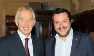 Tony Blair with Matteo Salvini