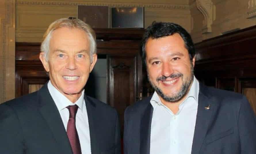 Tony Blair with Matteo Salvini