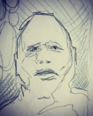 sad face doodle
