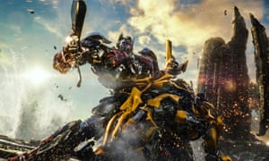 Optimus Prime and Bumblebee as they appeared in Transformers: The Last Knight