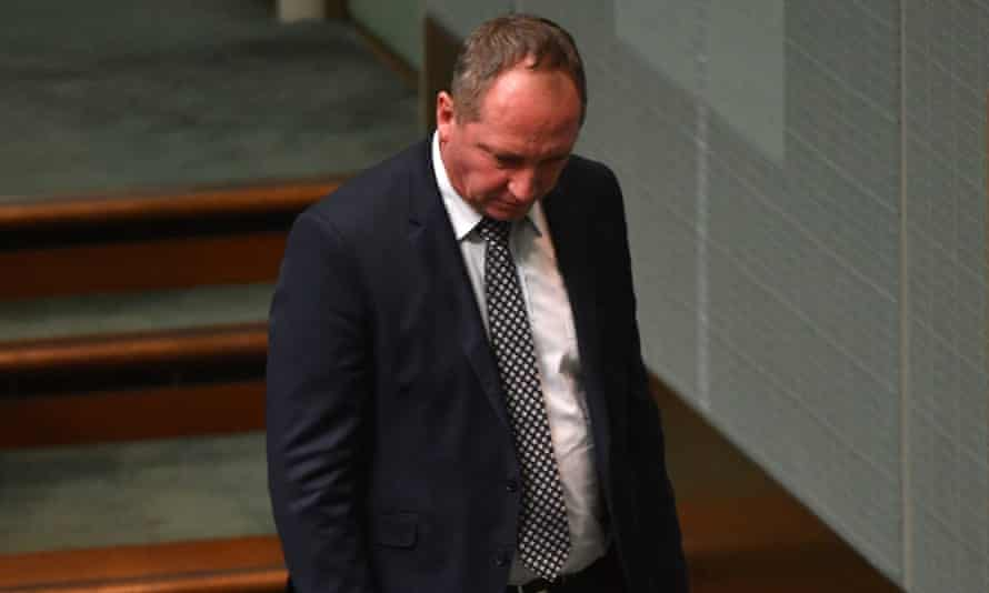 Barnaby Joyce at question time on Monday