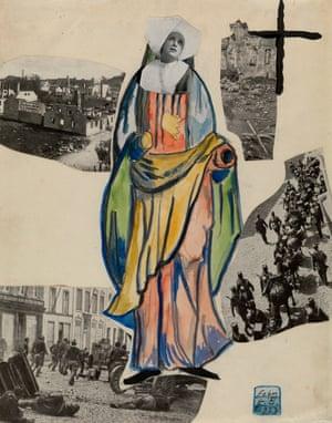 Erwin Blumenfeld, Madonna of War (Nun)