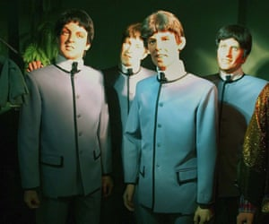 Waxwork of The Beatles Louis Tussauds House of Wax Museum, Great Yarmouth, Norfolk, Britain
