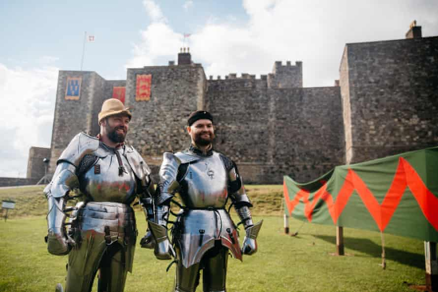 Two knights at Dover Castle