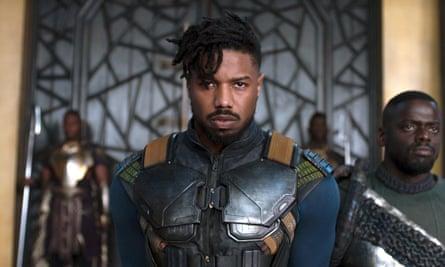 Michael B Jordan as Erik Killmonger in Black Panther
