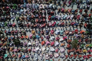 Guadalajara, Mexico: Wearing traditional costumes, 882 people danced to mariachi music and broke a Guinness world record