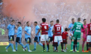 Flares were ripped during the last Sydney derby, at Pirtek Stadium on 16 January.