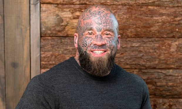 Darren Lumsden, contestant on The Chop, has tattoos that could be considered racist.