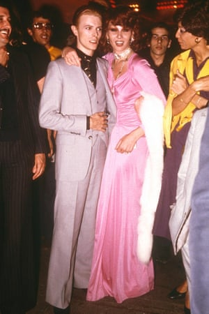 Life and soul: Bowie at the infamous Studio 54 nightclub the 70s.