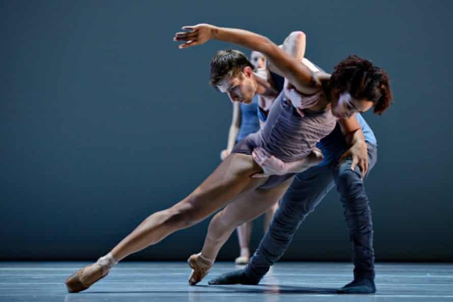 Off-kilter … Ballet BC dancers Livona Ellis and Darren Devaney in Emily Molnar's piece 16 + a room.