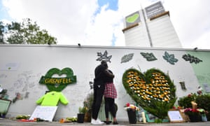 People at the Grenfell memorial
