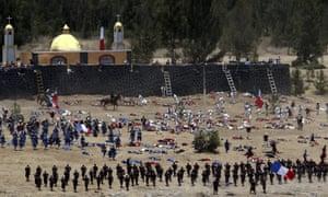 The battle reenactment Puebla.