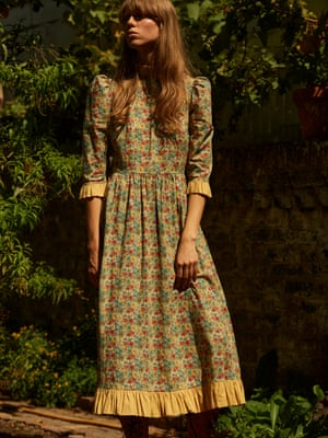Yellow floral dress, £395, opioneers.co.uk