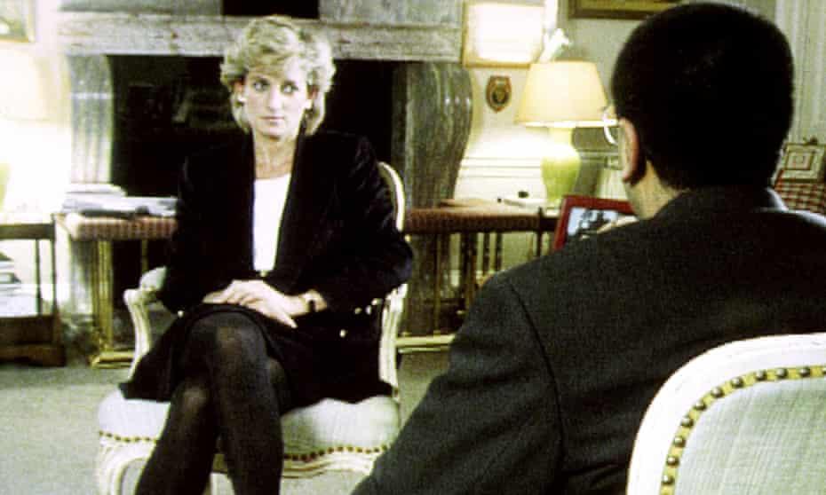 Diana, Princess of Wales during her Panorama interview with Martin Bashir.