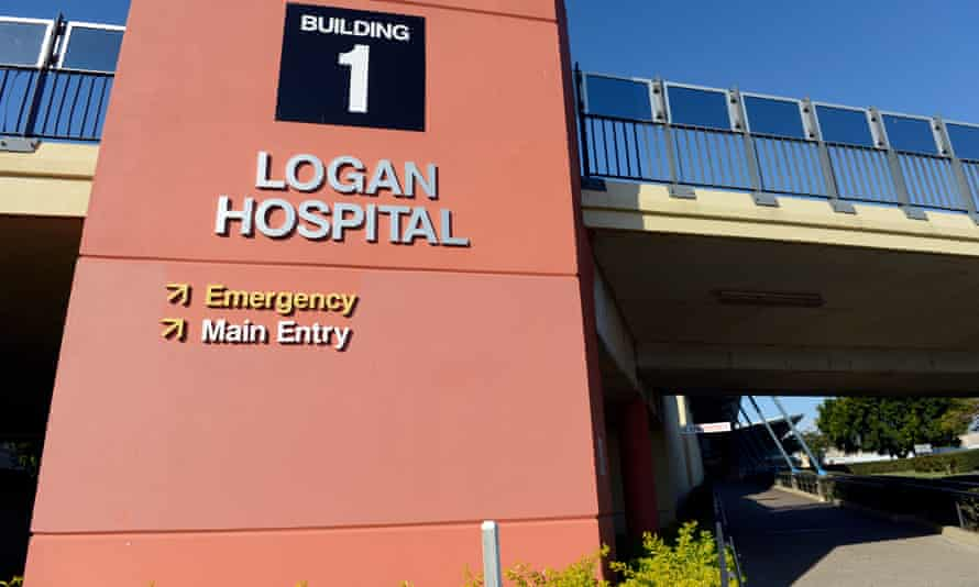 The entrance to Logan hospital, where a Tamil asylum seeker died days after attempting to take his own life inside the building.