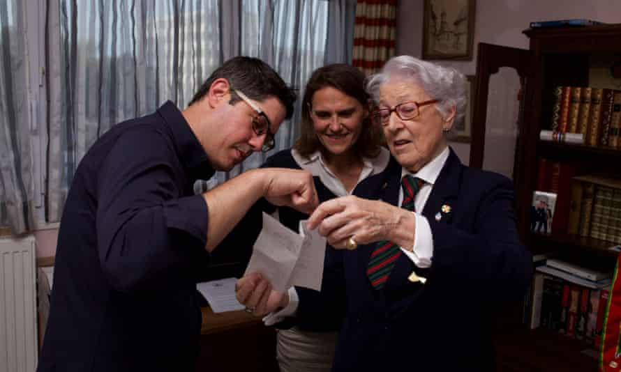 Director Anthony Giacchino, producer Alice Doyard and Colette Marin-Catherine.