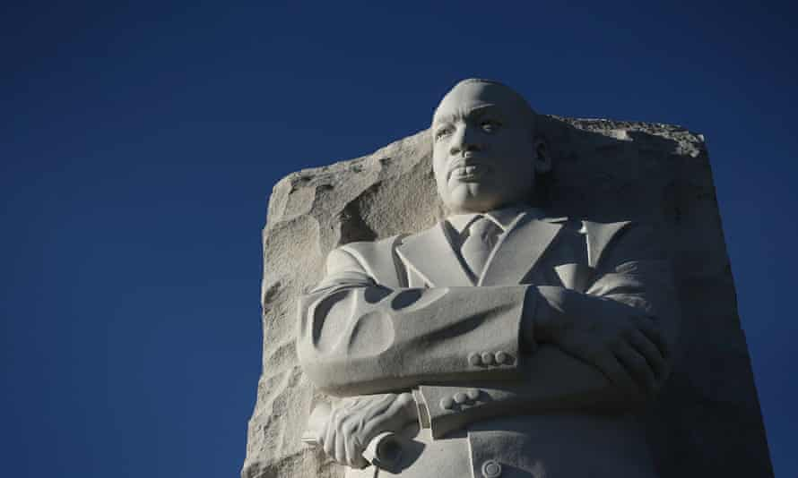 Washington DC Commemorates Martin Luther King Day<br>WASHINGTON, DC - JANUARY 18: The statue of Martin Luther King Jr. is seen at Martin Luther King Jr. Memorial January 18, 2016 in Washington, DC. The nation observes the life and legacy of Martin Luther King Jr. today. (Photo by Alex Wong/Getty Images)