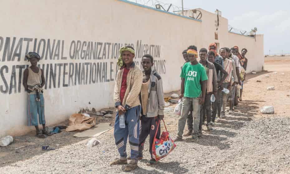 Ethiopians travelling through Djibouti