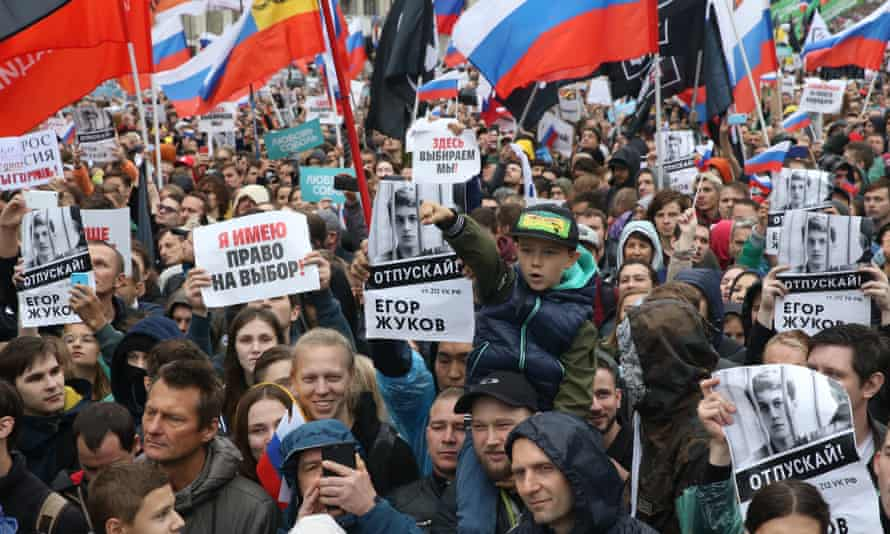 Opposition supporters rally in Moscow on Saturday