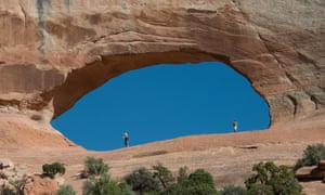 Wilson Arch from Highway 191 in San Juan County, 24 miles south of Moab, Utah